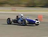 Blue Race Car — Stock Photo