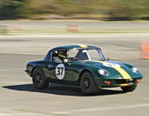 Green Lotus Racecar — Stock Photo
