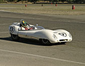 White Lotus Racecar — Stock Photo