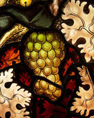 Grape Cluster In Stained Glass — Stock Photo
