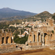 Taormina Viewpoint With Theatre - Stock Photo