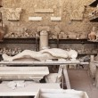 Replica of Pompeii Victim — Stock Photo