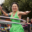 Hula Hoop Performer — Stock Photo