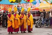 Gaden Shartse Tibetan Monks — Stock Photo