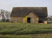 Old Barn With Field — Stock Photo