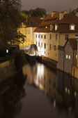Prague Canal With Water Wheel — Stock Photo