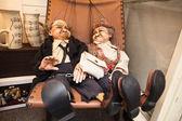 Czech Puppet Couple — Stock Photo