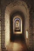 Underground Corridor In Fortress — Stock Photo