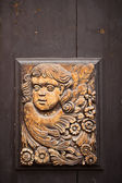 Tschechische carving an tür — Stockfoto