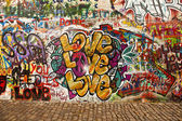 Love On The Lennon Wall — Stock Photo