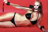 Bondage model — Stock Photo