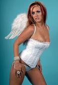 Mavi melek — Stok fotoğraf