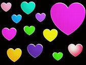 Hjärtan — Stockfoto