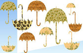 Funky Umbrellas — Stock Photo
