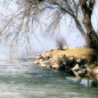 Stock Photo: Spring Thaw Along Beautiful Shoreline