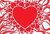 Valentijn kaart decoratie — Stockvector