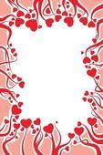 Valentine card decoration — Stock Vector