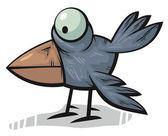 Standing crow — Stock Vector