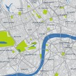 mapa del vector Londres central — Vector de stock  #9649532