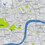 mapa del vector Londres central — Vector de stock