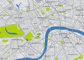 中央ロンドンのベクトル地図 — ストックベクタ