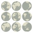 Royalty-Free Stock Vector Image: Set of vector globes