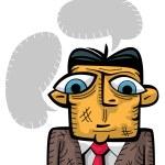Sad businessman thinking — Stock Vector