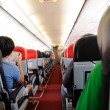 Stock Photo: Commercial aircraft interior