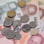 Thai money background — Stock Photo #8935215
