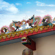 Stock Photo: Chinese dragons on temple