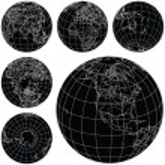 Vector Globes — Stock Vector #9742603