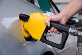Benzin pompası dolum — Stok fotoğraf