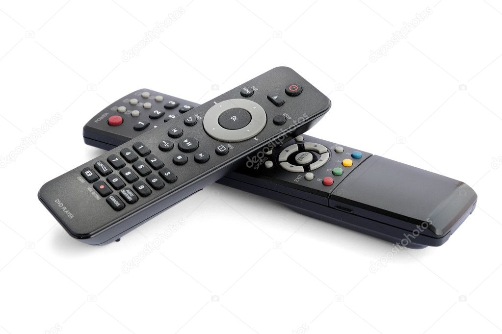Remote control isolated on white background, selective focus. — Stock Photo #9964054
