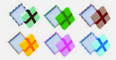 Open boxes — Stock Vector