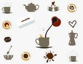 Coffee, tea — Stock Vector