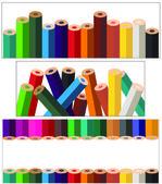 Lápis de cor — Vetor de Stock