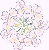 Violet irises — Stock Vector