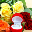 Stock Photo: Ring with roses