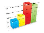 Growth chart — Stock Vector