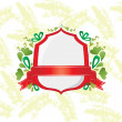 Red shield and ribbon — Stock Vector #8938936
