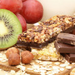 Stock Photo: Chocolate muesli bar