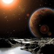 Abstract image of a planet with water. Find new sources and tech — Stock Photo #8106393