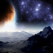 Abstract background of deep space. In the far future travel. New — Stock Photo #8106423