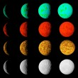 Phase of lighting different planets. Planets in deep dark space. — Stock Photo