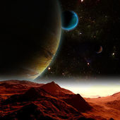 Abstract background of deep space. In the far future travel. New — Stock Photo