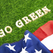 USA goes green photo concept — Zdjęcie stockowe