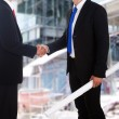 Business agreement at construction site — Stock Photo #10142794