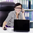 Businesswoman working in the office — Stock Photo #10411503