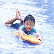 Joyful Asian kid at swimming pool — Stock Photo #10418067