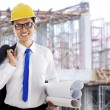 Happy success architect — Stock Photo